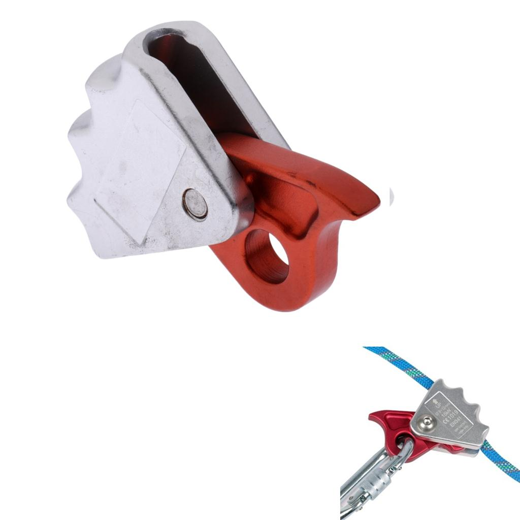 15KN Lightweight Aviation Aluminum Rock Climbing Tree Arborist Rigging Abseiling Rope Grab Protecta Fits 9-12mm Rope