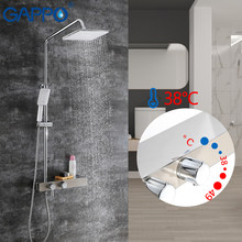 GAPPO Brass shower system thermostatic bathtub faucet brass and stainless steel rainfall shower set mixer tap faucet mixer(China)