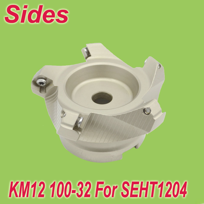 Free Shiping Two Colors KM12 100-32-5T 45 Degree Shoulder Face Mill Head for SEHT1204