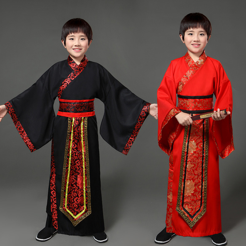 boys traditional ancient chinese costume chinese traditional tang hanfu dress child clothing cosplay fairy dance kids children
