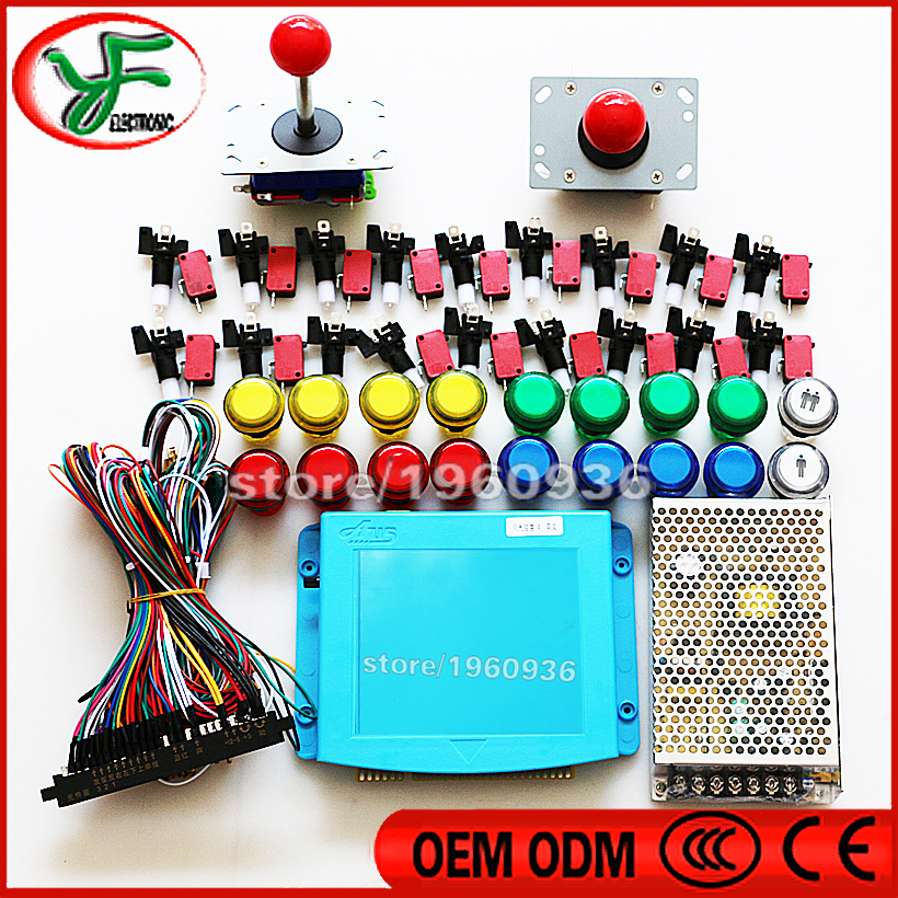 DIY arcade cabinet kit Jamma Arcade 645 in 1 PCB Wire harness power supply joystick button aliexpress com buy diy arcade cabinet kit jamma arcade 645 in 1 Off-Road Light Wiring Harness at soozxer.org