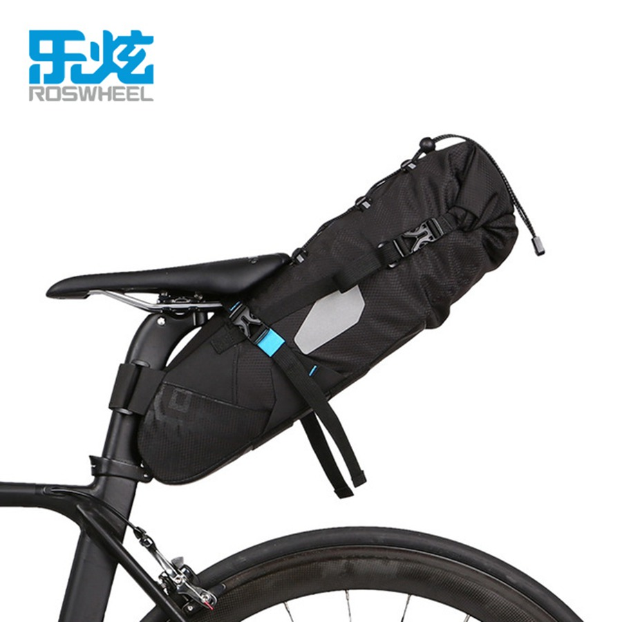 ROSWHEEL 10L 100% Waterproof Bike Bag Bicycle Accessories Saddle Bag Rear Tail Saddle Back Seat Bags for MTB Road Bike rhinowalk 10l 100% waterproof bike saddle bag seat bike mountain bike accessories