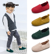 New Arrive Shoes Baby Girl Solid Color Slip On Flat Soft Soled Comfortable Girls Peas Shoe Casual shoe Yellow Green Beige