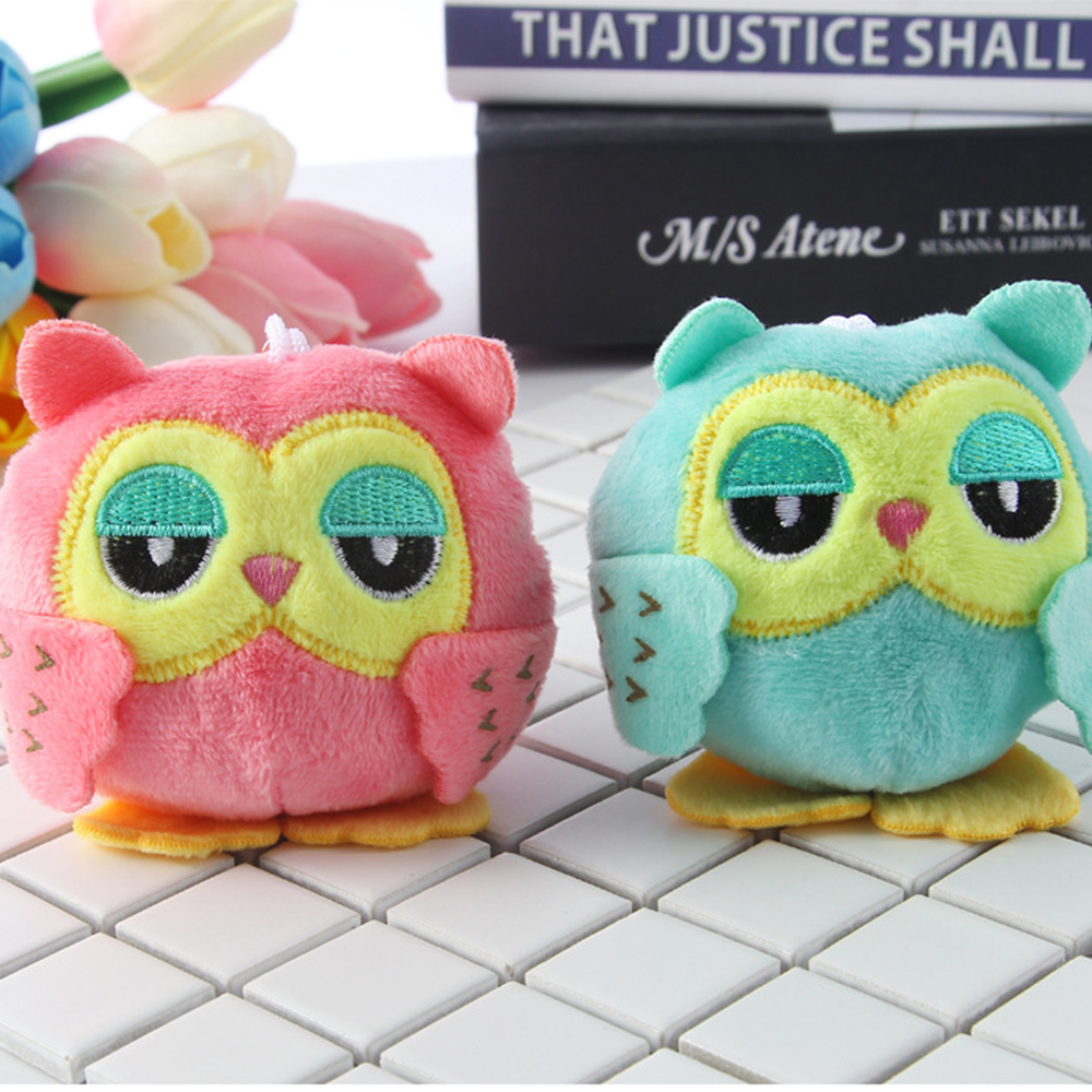 <font><b>Plush</b></font> Stuffed animal owl <font><b>TOY</b></font> ,<font><b>Plush</b></font> Keychains owl 9 cm <font><b>key</b></font> <font><b>chain</b></font> <font><b>toys</b></font> , small Pendant dolls , Wedding Party <font><b>toys</b></font> for children image