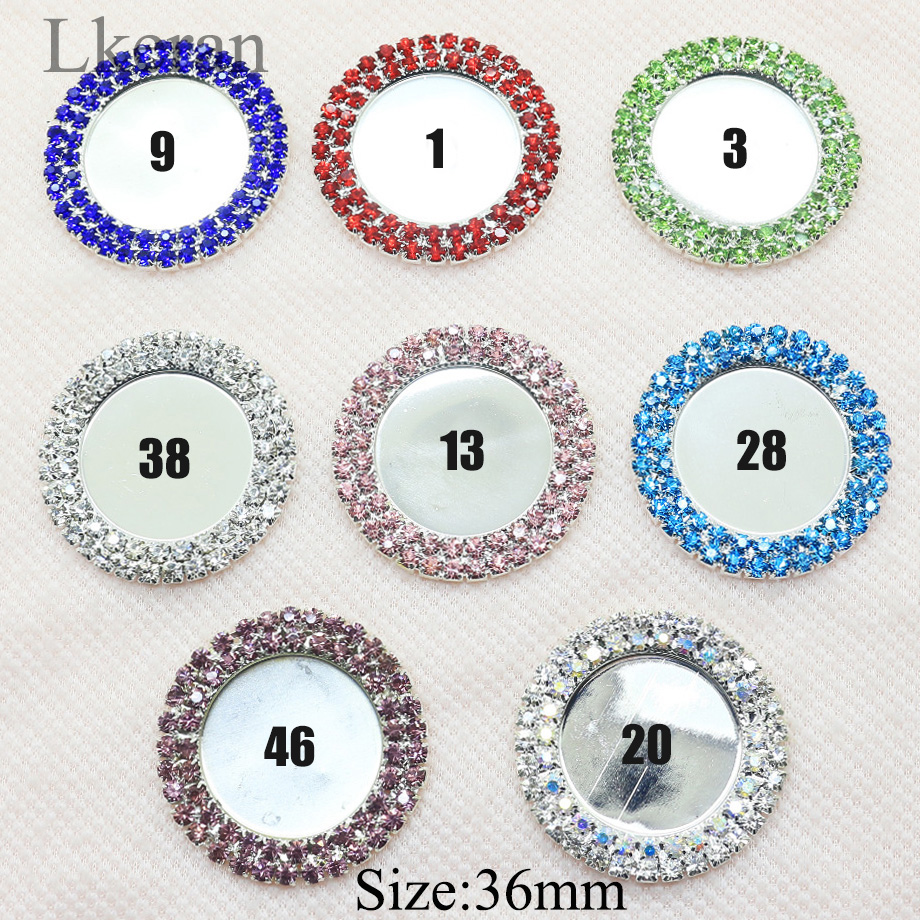 Charm 10PCS/Lot Inner 25mm Double Row Rhinestone Button Resin Bottle Cap Tray Setting Key Cover Lids DIY Jewelry Making