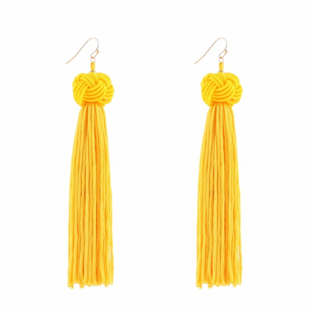 Wholesale High Quality Handmade 5 Color Chinese Knot Tassel Earring Long Earing Male Earrings for Women Party Gift 3pcs/lot