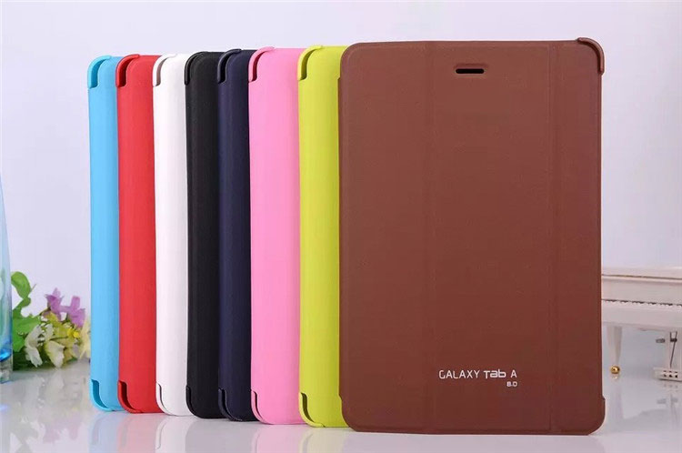 3 in 1 Business Smart Pu Leather Book Cover Case For Samsung Galaxy Tab A 8.0 T350 T351 T355 + Stylus + Screen Film luxury folding flip smart pu leather case book cover for samsung galaxy tab s 8 4 t700 t705 sleep wake function screen film pen