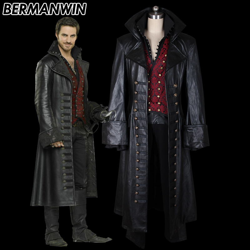 Once Upon A Time Costumes: BERMANWIN High Quality Once Upon A Time Costume Captain