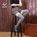 2017 mujeres sexy medias spandex de caña alta calcetines de Cachemir de rayas de alta del muslo calcetines calcetines Hasta La Rodilla de color natural nuevo 4 colores