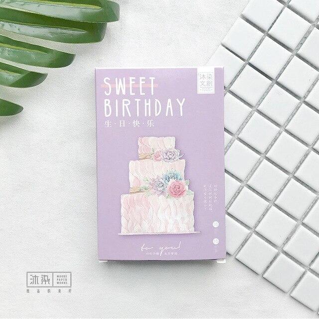 Happy Birthday Cake 30pcspack Japanese Cute Postcard Sweet