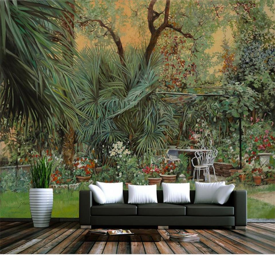 custom 3d photo wallpaper living room mural sticker tropical rainforest plants painting sofa TV background wall non-woven mural book knowledge power channel creative 3d large mural wallpaper 3d bedroom living room tv backdrop painting wallpaper