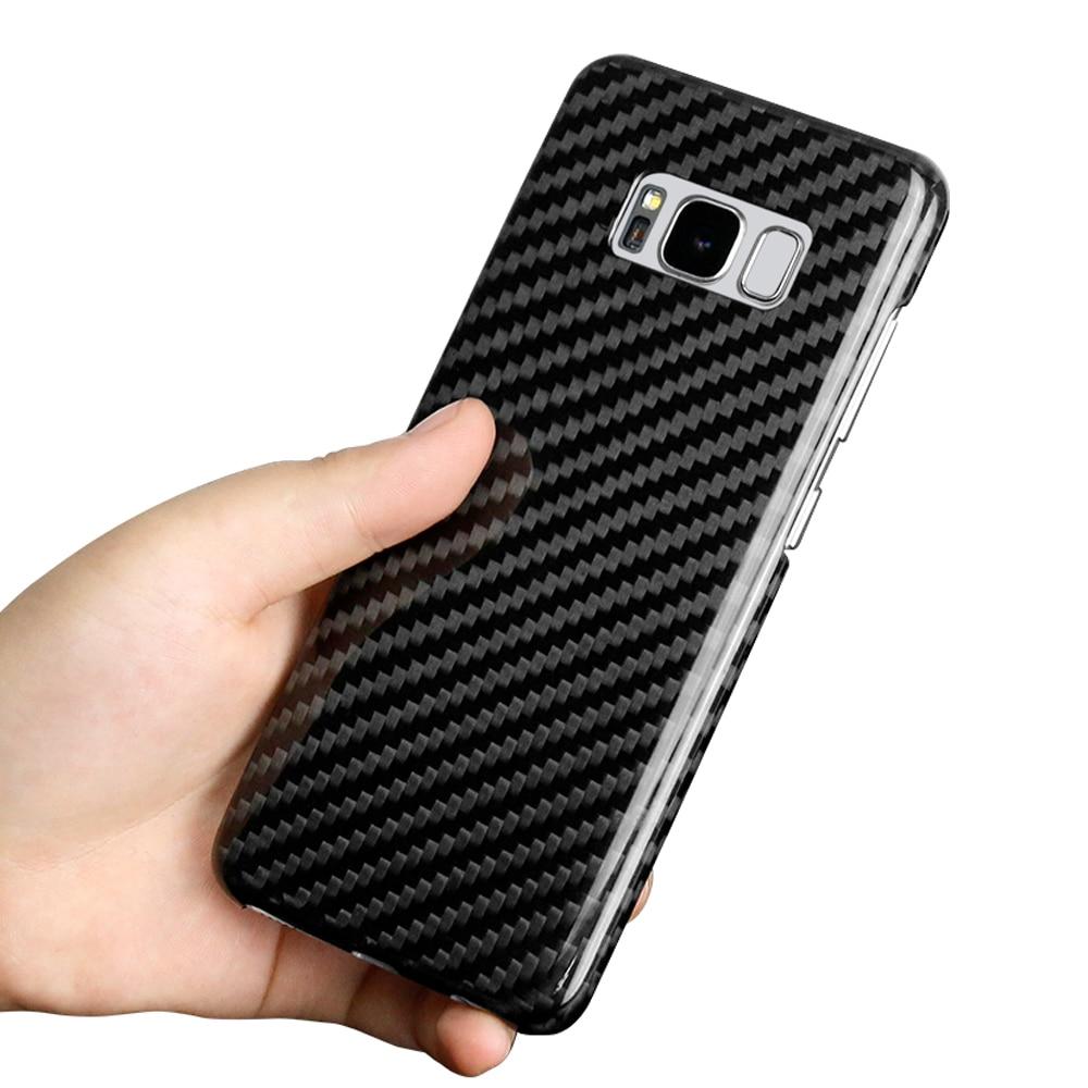 Funda de lujo de fibra de carbono Real para Samsung Galaxy S8 S8 Plus para Samsung S8 S8 Plus S8Plus carbono fibra cubierta-in Cajas ajustadas from Teléfonos celulares y telecomunicaciones on AliExpress - 11.11_Double 11_Singles' Day 1