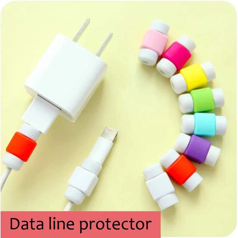 10pcs Cable Bite Protector For Iphone Cable Winder Phone Holder Accessory Organizer Data Line Protector Model