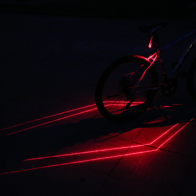 Folding Laser Bike Light Front Rear BicycleLight USB Rechargeable Cycling LampBS