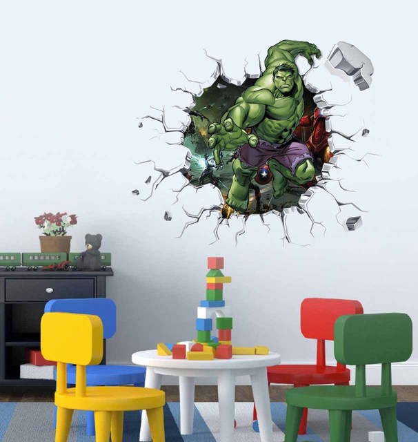 The Hulk Smashed Wall Sticker For Home Living Room Baby Bedroom Decor  Avengers Kids Playroom Decal