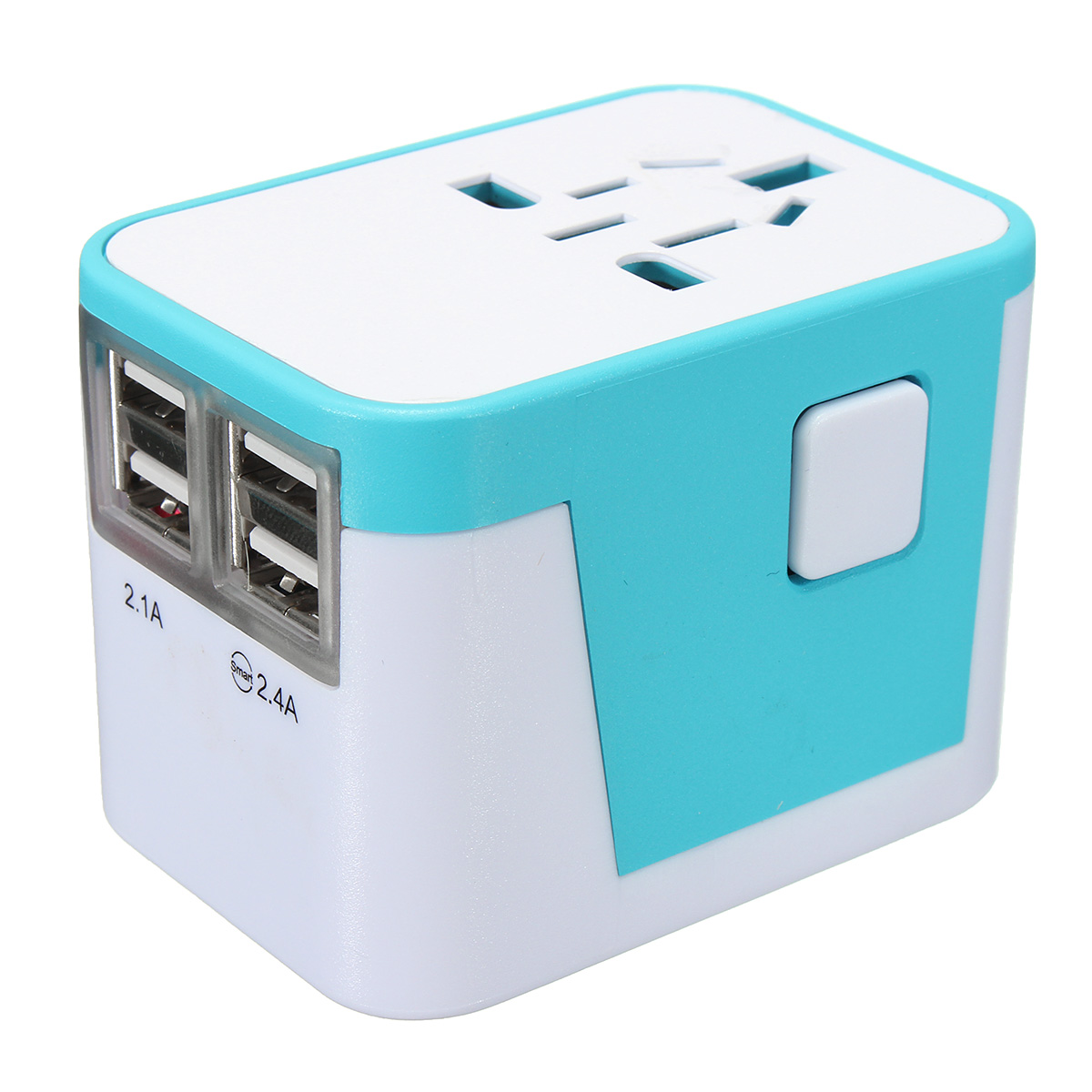 All in One Universal International Plug Adapter 4USB Ports World Travel AC Power Charger US UK AU EU многофункциональный универсальный world travel au великобритания сша в ес ac power plug адаптер конвертер a57