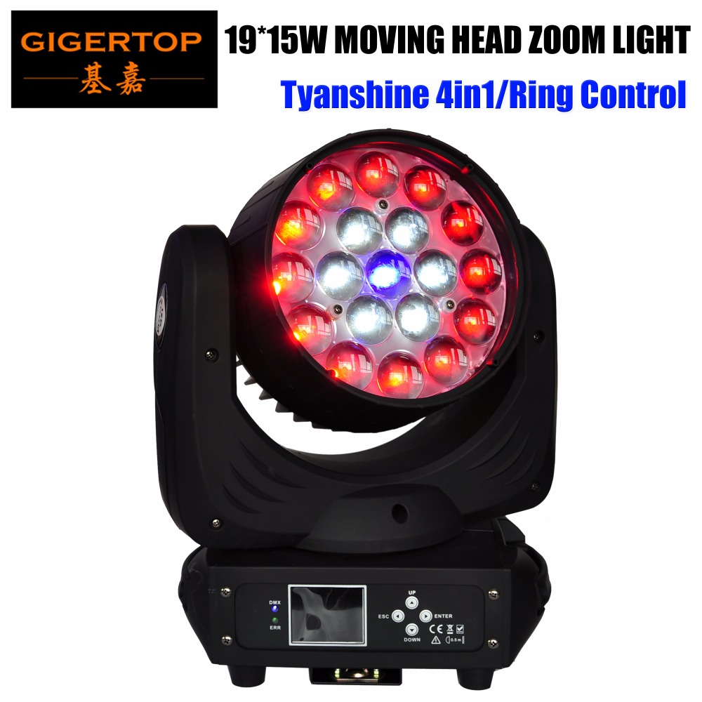 TIPTOP TP L640A 19X15W Led Zoom Moving Head Beam Wash Light 300W High Power RGBW 4IN1
