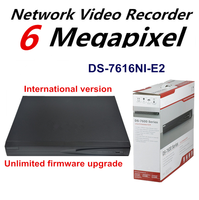 Оригинальная Английская Версия DS-7616NI-E2 NVR 16CH NVR для 1080 P Системы Ip-камера ONVIF 2 SATA для HDD H.265