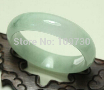 Free shipping 001526 Certified 100% Natural Fine Stone Jadeite Bangle Bracelet Handmade () very fine rare natural green white jadeite stone bracelet bangle