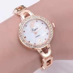 Модные женские яркие наручные кварцевые наручные часы с покрытием из искусственной кожи