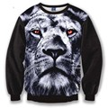 red eyes Lion Printed men's sweatshirt hip hop harajuku hoodies lovely pullovers sweats tops