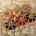 Mujeres Lolita Gótica de Santa Mini Crown Headwear Hairclip Pelo Accessary