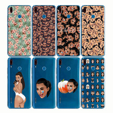 Kimoji Kim Kardashian Soft Silicone Phone Cover Cases Funny Face Kanye Capa Back for huawei Y5 Y6 Y7 YP Prime Pro