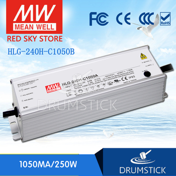Steady MEAN WELL HLG-240H-C1050B 119 ~ 238V 1050mA meanwell HLG-240H-C 249.9W LED Driver Power Supply B Type