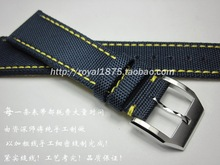 Men's Composite fiber+Leather 20 21 22mm blue Watch Band Strap For iwc Seiko Tissot Hours Male Female Belt Bracelet Montre Cuir italy metal watch band for cartier blue balloon 14 18 20 mm bracelet belt brush steel strap for hours convex bretelle orologio