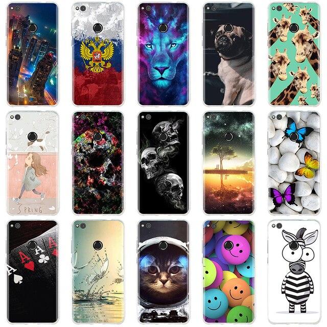 Case For Huawei P8 P9 Lite 2017 / Honor 8 Lite Case Cover for Huawei P9 Lite Cover Soft TPU Funda for Huawei P9 Lite Case Capas