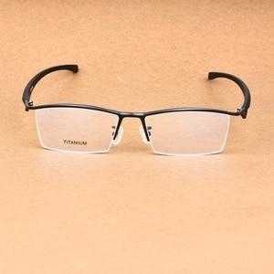 Image 4 - העסקי גדול משקפיים מסגרת גברים משקפי טהור טיטניום אופטי מרשם Oculos גדול גודל משקפיים