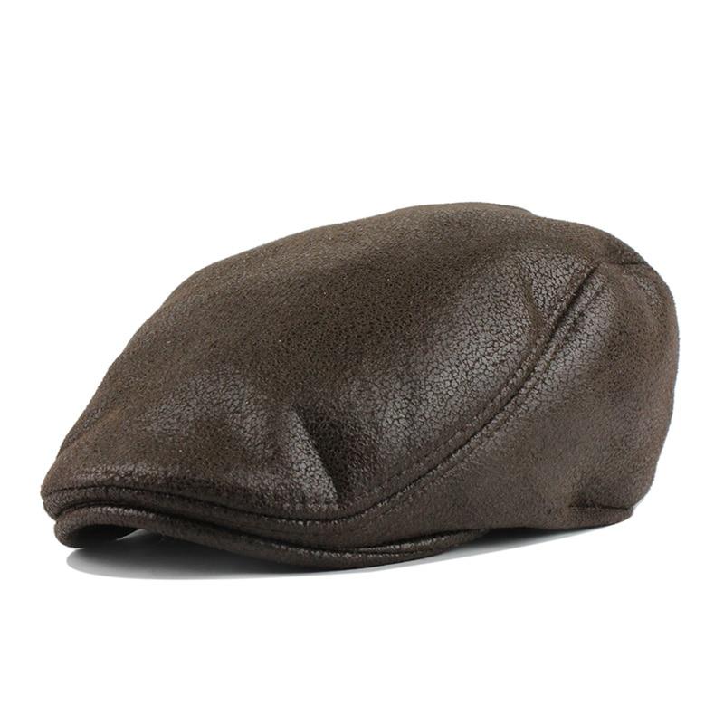 ac669c05e812a Moda Otoño primavera sombreros para hombres de algodón a cuadros de boina