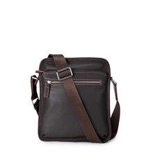 Bostanten 100% Genuine Real Leather cowhide Shoulder leisure men's bag business messenger portable briefcase Laptop Casual Purse