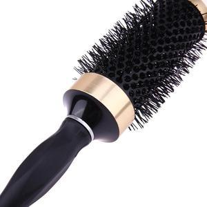 Image 5 - Peine cepillo de pelo profesional, redondo, cepillo rizador para el pelo, peine, peluquería, resistente al calor, accesorios de peinado