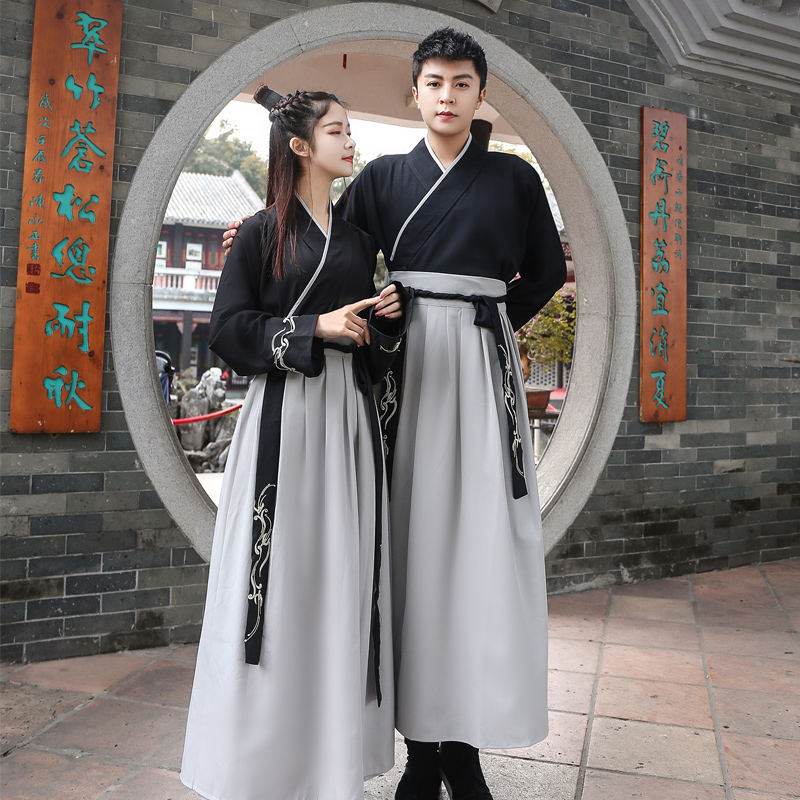 Black Hanfu Dress Chinese Dance Costume Traditional Performance Clothing Han Dynasty Princess Classical Outfit Stage Performance