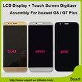 Oro negro blanco lcd de pantalla smartphone pantalla lcd con touch panel de reparación de piezas de 5.5 pulgadas sin marco para huawei g8/g7 plus