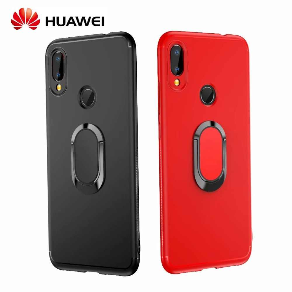 Luxury Car Bracket Ring Magnetic TPU Protective Case For Huawei P20 Pro Lite Mate 20 10 9 Lite Pro Cover Nova 3 3i 3E Case