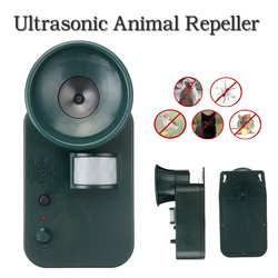 Portable Waterproof Harmless Safe Outdoor Indoor Ultrasonic Animal Rodent Cat Repeller Pest Dog Fox Deterrent Chasers Repellent