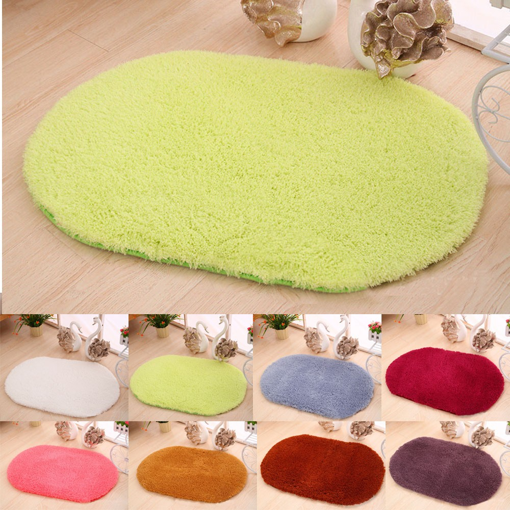 Oval bathroom rug - Soft Oval Memory Foam Bath Bathroom Bedroom Floor Shower Mat Rug High Quality 40x60cm China