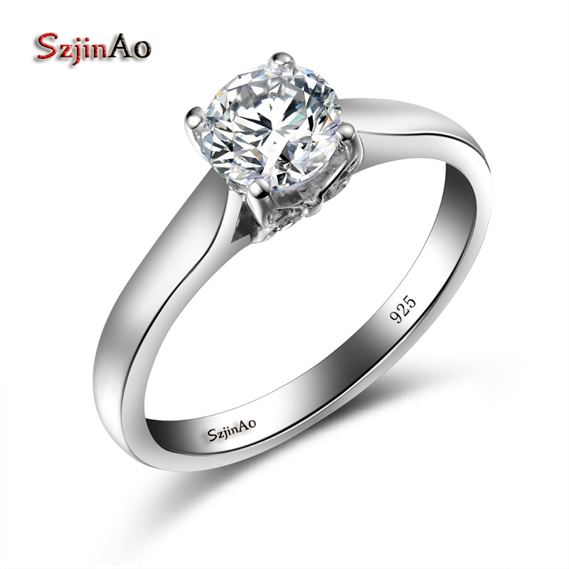Szjinao Butterfly Ring White Gold Color Engagement Jewelry Rings for Women Zircon 925 Sterling Silver Wedding Jewelry Wholesale luxury brand design 925 sterling silver jewelry for women wedding love couple ring white gold color promise engagement rings
