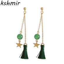 2017 fashion earrings fringe of South Koreas sweet stud wholesale womens exquisite
