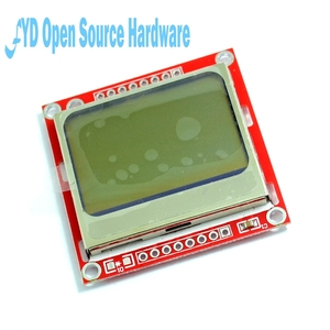 Image 2 - High Quality 84X48 84x84 LCD Module Red backlight adapter PCB for Nokia 5110 for