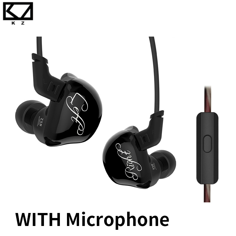 New KZ ZSR 2BA+DD Unit Hybrid In-Ear Earphone Subwoofer Stereo Sport Headset Noise Cancelling HIFI Detachable Earbuds with mic 2017 rose 3d 7 in ear earphone dd with ba hybrid drive unit hifi monitor dj 3d printing customized earphone with mmcx interface