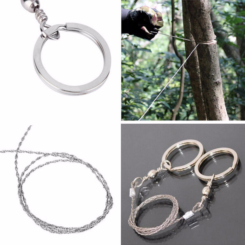 Portable Outdoor Camping Hiking Manual Hand Steel Rope Chain Saw Practical Emergency Survival Gear Steel Wire Saw Travel Tool