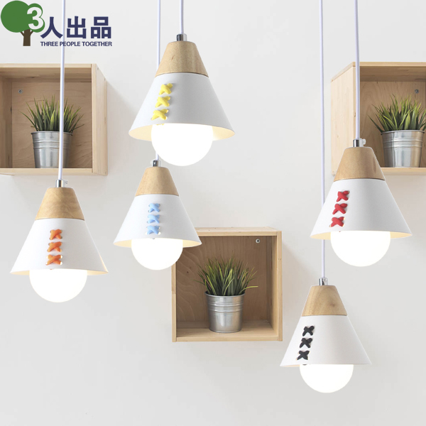 Creative appearance of the Nordic minimalist solid wood Pendant Lights Children's room bedroom living room dining room lighting chinese style wooden pendant lights solid wood living room dining room pendant lamp creative bedroom study hallway zs37 lu1017