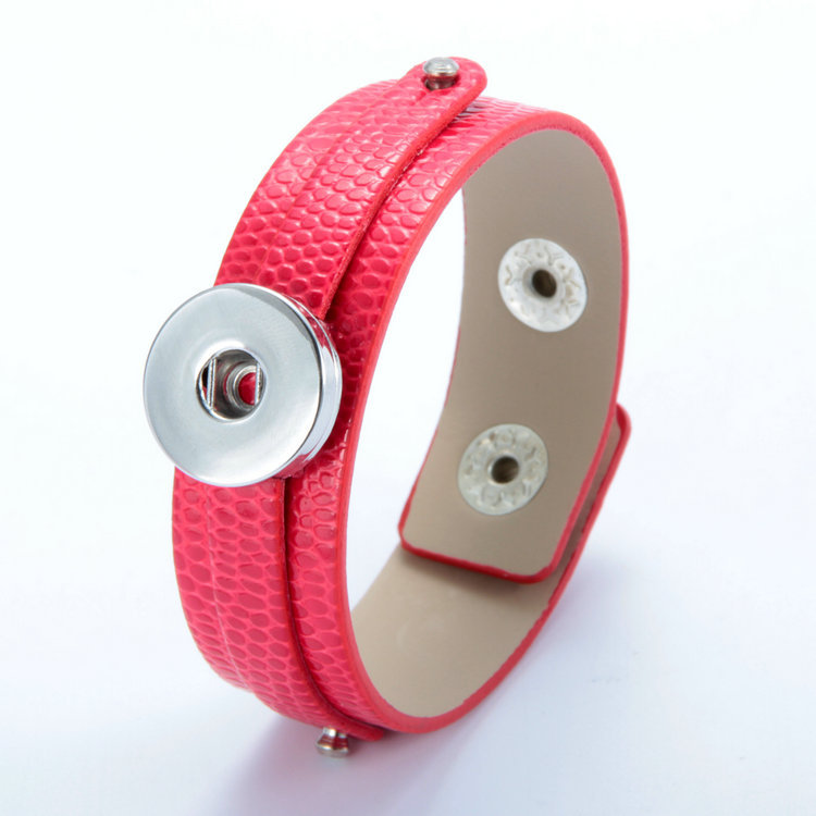 c8f7b3e970f2 1 unids caliente pulsera de cuero Snap Botones DIY moda pulseras de la  joyería regalos de las mujeres