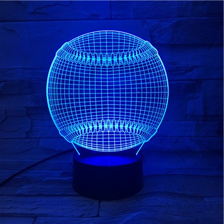 3d Led Night Light Sports Tennis Ball 7 Colors Changing Touch Sensor Usb or Battery Powered Nightlight for Home Room Decor Lamp