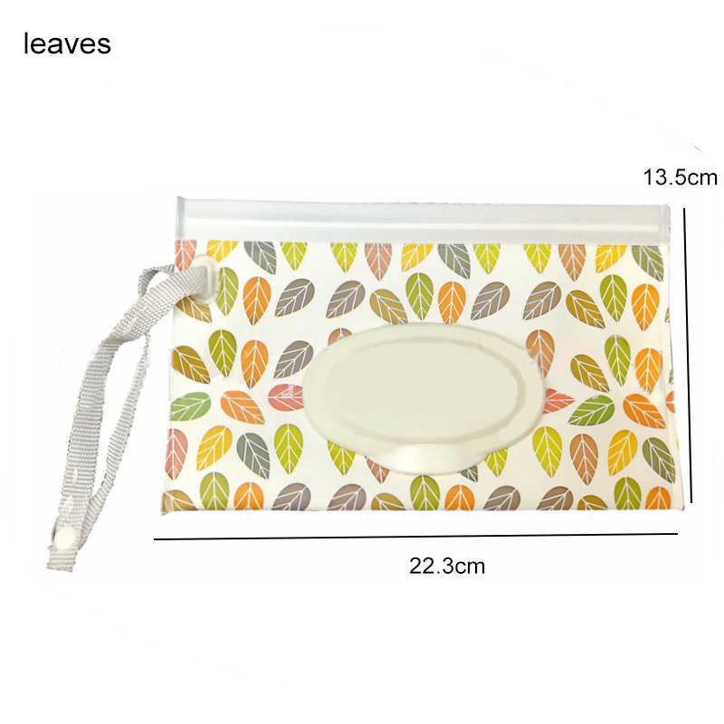 Snap Strap Portable Baby Wet Wipes Box Wipes Container Eco-friendly Easy-carry Clamshell Cosmetic Cleaning Wipes Cases 23*13.5CM