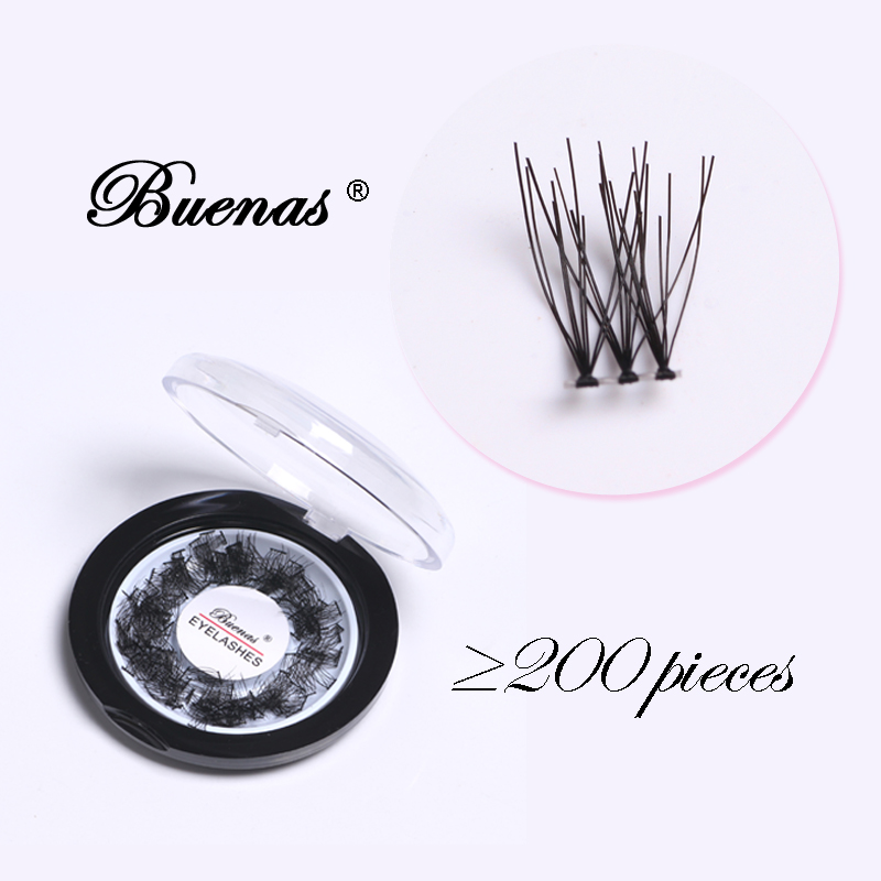 Buenas lashes 200 pcs individual eyelashes soft segmented eyelashes hand made natural false eyelash new eyelashes extensions