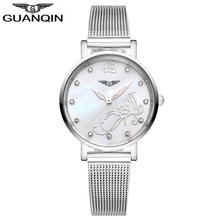 GUANQIN GS19042 Bracelet Watch Ladies Watches Trend Informal Quartz Watch Stainless Metal Strap relogio feminino well-known model